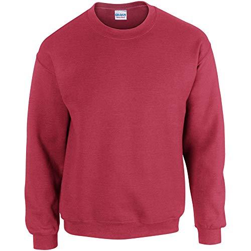 Gildan 50/50 Adult Crewneck Sweat Sudadera, Rojo (Antique Cherry Red Antique Cherry Red), X-Large para Hombre