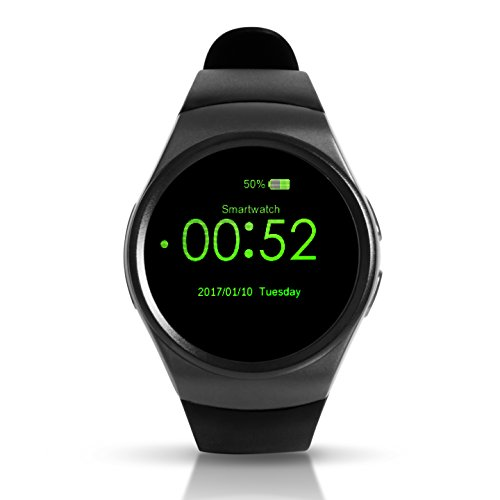 Bluetooth Smart Watch, Keoker 1.3 inches IPS Round Touch Screen Water Resistant Smartwatch Phone with SIM Card Slot,Sleep Monitor,Heart Rate...
