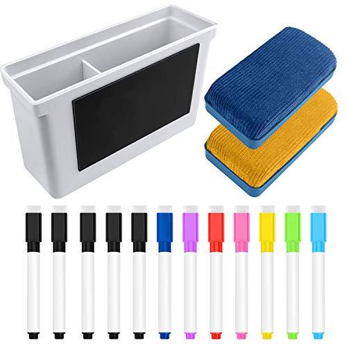 (49% OFF) Whiteboard Magnetic Dry Erase Marker Holder Markers & Erasers 15pcs Set $7.69 Deal