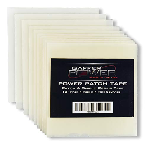 Patch & Shield Tape – Repair & Seal All Weather Seal Tape | Flexible Multipurpose Stretch Tape | Weather Resistant | Patch Holes & Cracks | Butyl Seal Tape | PRE Cut Squares 4 Inch x 4 Inch Squares