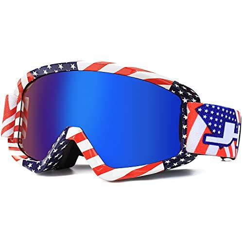 AVV Motorcycle Goggles for Men Women - Windproof ATV Dirt Bike Goggle, Anti UV Off-road Glasses For Riding MTB Motocross