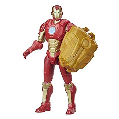 Avengers Hasbro Marvel Mech Strike 6-inch Scale Action Figure Toy Iron Man with Compatible Mech Battle Accessory, for Kids Ages 4 and Up