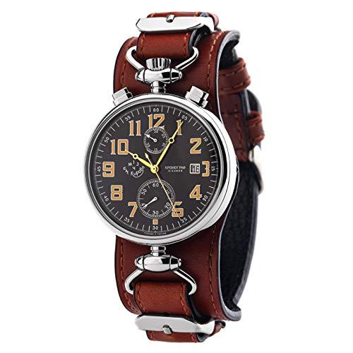 POLJOT KIROVA 3133 Herrenuhr Chronograph Russische Mechanische Uhr Russland