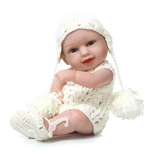 Naturgetreue Silikon-Vinyl Weighted Lebend-Puppe mit Hut Kleidung Little Peanut Baby-Puppen für Kleinkind-10inch