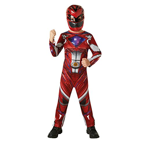 Rubie's- Power Rangers Movie Costume Red Ranger per Bambini, S, IT630710-S