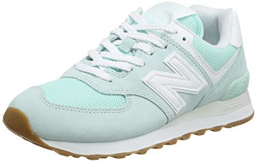 New Balance 574 Pastel Pack, Zapatillas Mujer, White Mint, 37.5 EU