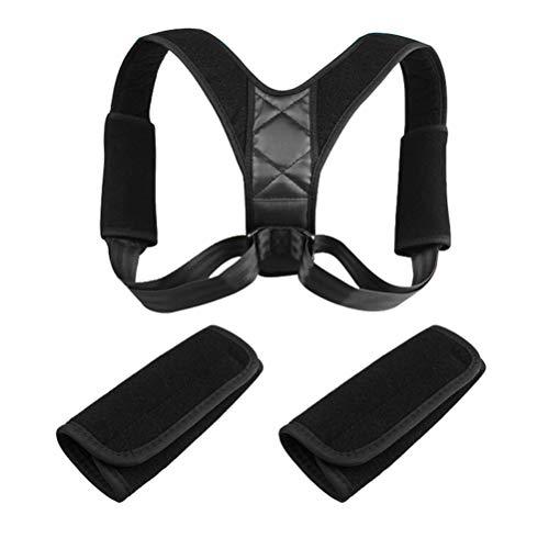 Leikance Corrector de Postura para la Parte Superior de la Espalda, Soporte para el Hombro, Corrector de Soporte de clavícula con 2 Almohadillas Protectoras