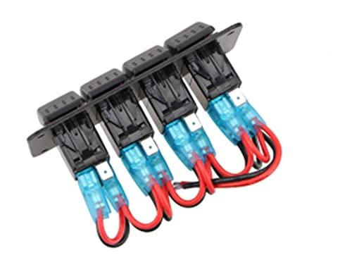 JIAQING Interruptor basculante de 8 bandas de 24 V con panel de control para coche, barco, voltímetro, enchufe de encendedor de cigarrillos, doble carga USB, interruptor de coche (color: 3 pandillas)