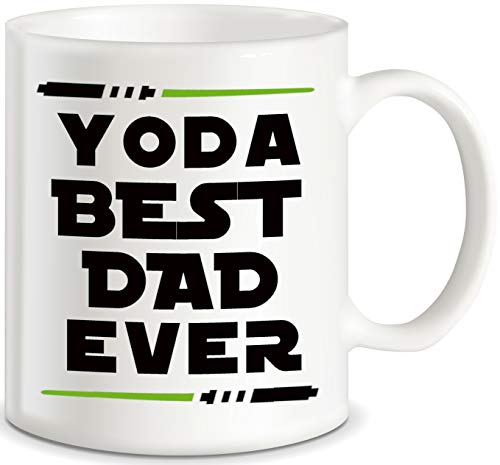 Funny Dad Mugs for Father's Day Yoda Best Dad Ever World's Awesome Daddy Gag Gifts Birthday Christmas Novelty Gift Idea for Dads Ceramic Coffee Mug Cup White by Classic Mugs