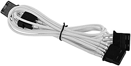 BattleBorn Molex to 3 x Molex 4-pin Cable Cord Premium Sleeved Braided Adapter PC Computer