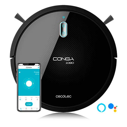 Cecotec Conga 1090 Connected (Wet & Dry) Smart App Based 4-in-1 Vacuum, Sweep, Mop & Scrub Robot Vacuum Cleaner