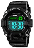Men S Shock Sport Watch Talking Music Alarm Clock LED Digital Watches Outdoor Men Military Shockproof Waterproof Watch (Black)