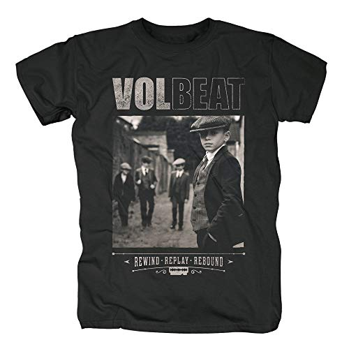 Volbeat Rewind Replay Rebound Cover T-Shirt (XXL, schwarz)