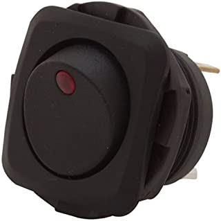 Gardner Bender GSW-50  Electrical Square Rocker Switch,  SPST, ON-OFF, 16 A/125V AC,  Spade Terminal, Red Illumination