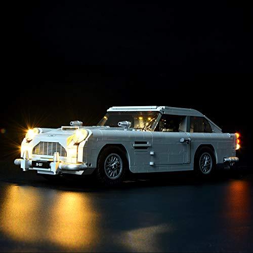 BRIKSMAX Led Beleuchtungsset für James Bond Bricks Spielzeug Aston-Martin DB5, Kompatibel Mit Lego 10262 Bausteinen Modell - Ohne Lego Set
