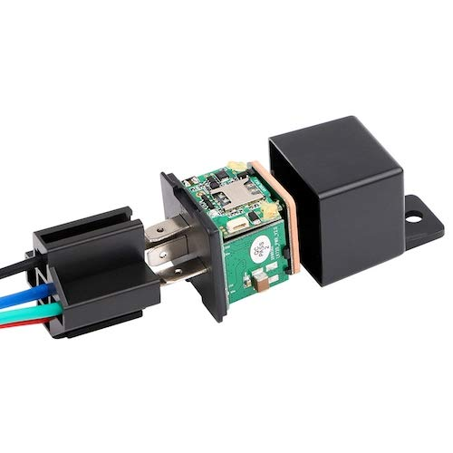 HaiMa Mini coche GPS Seguimiento Localizador Relé Sección Rastreador Miniatura Antirrobo - Estados Unidos Negros
