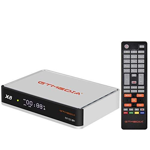 GT Media X8 Decoder ricevitore satellitare DVB-S/S2/S2X, Integrazione di Web TV WiFi, compatibile con Europa, T2MI, ACM, VCM, Youtube CC CAM Biss Auto Roll