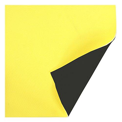 Lomo klein Neopren Blatt 3mm doppelt gefüttert 300mm x 300mm, gelb