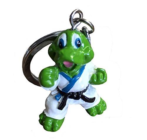 Budodrake Schlüsselanhänger Kampf-Drache grün Karate Judo Taekwondo Kampfsport Anhänger Geschenk