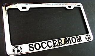 Soccer MOM Chrome Metal License Plate Frame Perfect for Men Women Car garadge Decor