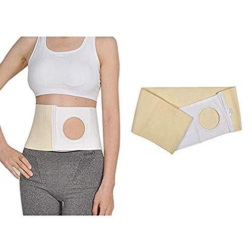 Helium gas colostomy tape - stoma sac, for abdominal braces adhesion ostomy support hernia band colonic pouch 8cm stoma opening