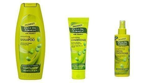 Huile d'olive nettoyant, revitalisant et renforçant des cheveux, lot de 3 produits d'entretien par Palmer's.