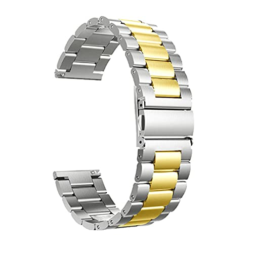 XIXI-Home Ajuste de la Banda de Acero Inoxidable de Metal para Samsung Galaxy Watch 3 45mm 42mm / 46mm Correas de Pulsera Inteligente Ajuste para Gear S3 Classic Frontier Correa