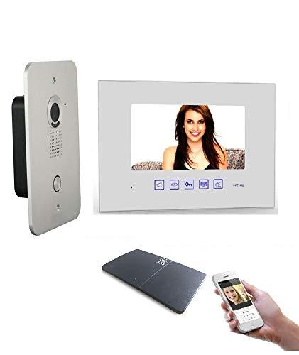 2 Draht Video Türsprechanlage Gegensprechanlage 7'' Monitor mit WLAN Schnittstelle