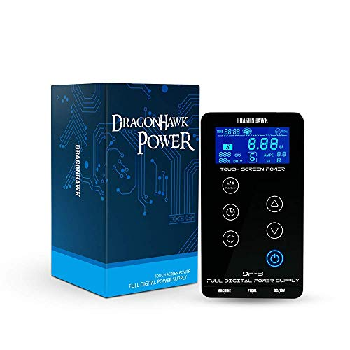 DragonHawk Mast Tattoo Power Supply Touch Screen Digital LCD Supplies Set for Tattoo Machines P093-2
