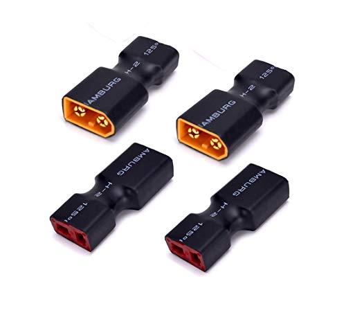 4pcs XT60 a Deans T Enchufe Conector Macho Hembra Adaptador sin Cables...