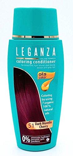 Leganza Färbender Conditioner Farbe 51 Dunkle Sauerkirsche Mit 7 Natürlichen Ölen Ammoniak und Paraben frei