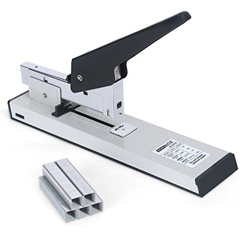 WoneNice Heavy Duty Stapler with 1000 Staples, Reduced Effort, 100 Sheets High Capacity Desktop Stapler, White