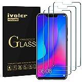 ivoler [3 Unidades] Protector de Pantalla para Huawei P Smart+ / Huawei P Smart Plus, Cristal Vidrio Templado Premium