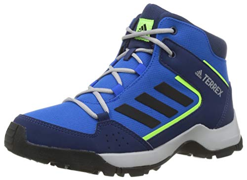 adidas Terrex Hyperhiker K, Chaussures de Sport Unisexe-Enfant, Bleu Ciel Noir Vert Vif, 35 EU
