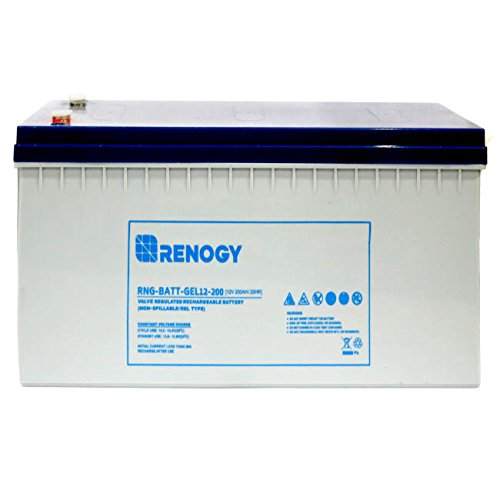 Renogy 12V 200Ah Rechargeable Deep Cycle Pure Gel Battery Maintenance Free for RV, Golf Cart,...