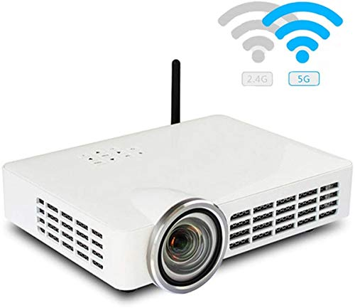 Inteligente nuevo proyector Proyector DLP ultra distancia de proyección corta, 3D 1080P WiFi multi-pantalla Full HD video proyectores de cine en casa, 50000 Horas 300