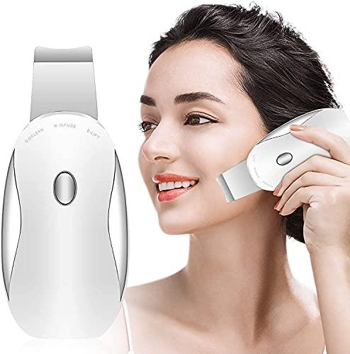 MMTC Espátula depuradora de Piel Facial, Herramienta eléctrica para Levantar Arrugas, removedor de espinillas, masajeador de Piel, Limpiador Profundo de poros