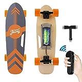 Tooluck - Skateboard elettrico con telecomando senza fili, velocità superiore di 20 km/h, motore da 350 W, 7 strati di acero, modalità a 3 velocità, per adulti, ragazzi e bambini
