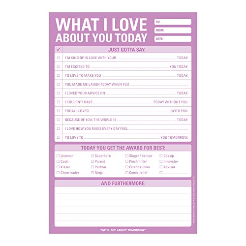 Knock Knock What I Love About You Checklist Note Pad, 6 x 9-inches Photo #2