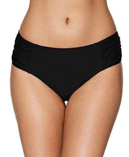 beautyin Women Tummy Control Black Bikini Bottoms Bathing Suit Bottoms Shorts