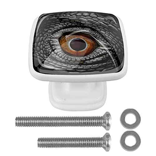 Punk, Cool Dragon Dinosaur Eye Crystal Gabinete de armario de cristal de 1.18 pulgadas, pomos de cristal para cajón, botones de cristal para cocina, baño, 1.18 pulgadas