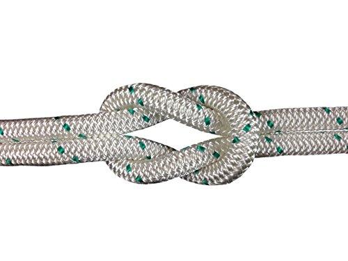 Schot-Tauwerk-Allroundleine 12mm Kennung grün 20m Schot,Seil,Tau,Tauwerk,Festmacher,Ankerleine