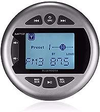 Herdio Marine Gauge Stereo -Boat Golf Cart Motorcycle AM FM Radio Digital Media Receiver MP3 Player USB AUX in