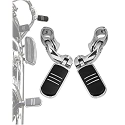 1 1//4 Highwa Motorcycle Highway FootPegs Rest Pedals w//Mounting Brackets Fixing for Harley Softail Sportster Touring Electra Road Glide Road King Street Glide with Harley 1 1.25 Engine Guard Bars