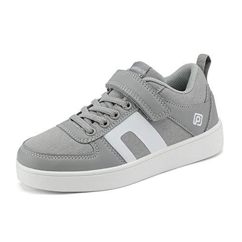 DREAM PAIRS Boys Grey Casual Sneake…