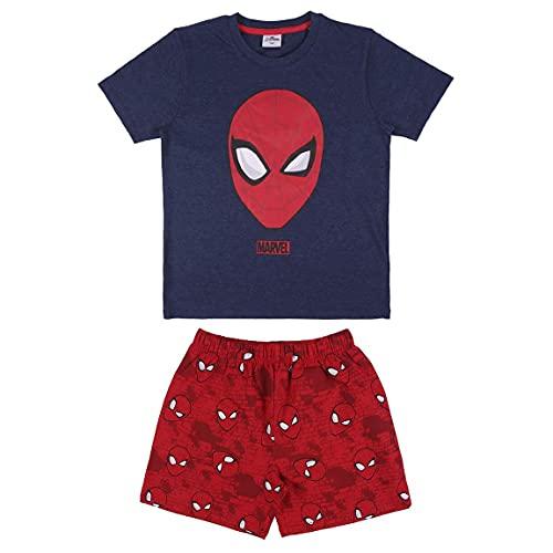 CERDÁ LIFE'S LITTLE MOMENTS Pijama Spiderman Niño Para Verano de Color Azul y Rojo-Licencia Oficial Marvel Pyjama Enfant Bleu et Rouge-Licence Officielle, 10 años Garçon