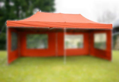 Nexos Pavillondach Ersatzdach für Profi Falt-Pavillon 3x6m - Dachplane 270g/m² PVC-Coating versiegelte Nähte wasserdicht – Farbe: Terracotta