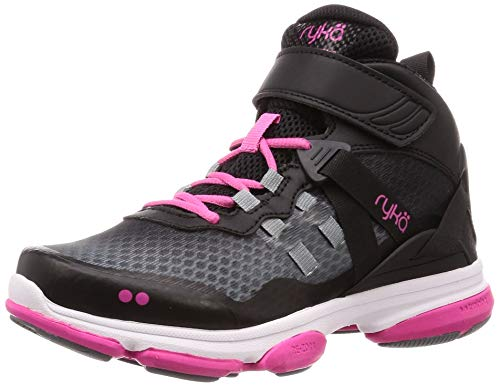 Ryka Women's Devotion XT Mid Cross Trainer, Black/Pink, 7 W...