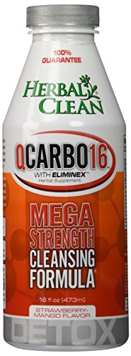 Herbal Clean BNG Enterprises Q Carbo Liquid Straw Drinks, Mango, 16 Ounce
