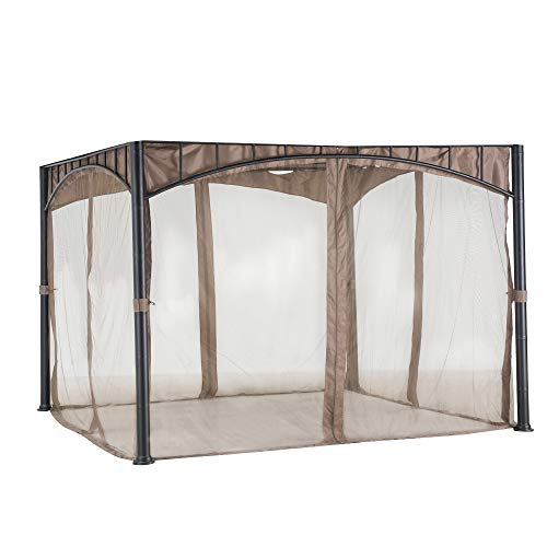 Sunjoy A111504600 Original Replacement Mosquito Netting for Madaga/Havana Gazebo (10X10 Ft) L-GZ136PST-2/7/9 Sold at Target/CTC, Khaki